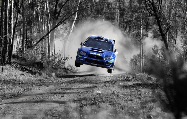 Picture jump, Subaru, rally, WRX STI