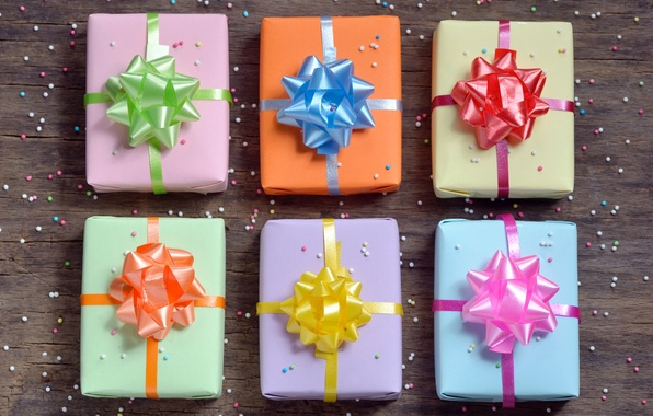Picture bows, background, old, box, wooden, gift, boxes, prezent