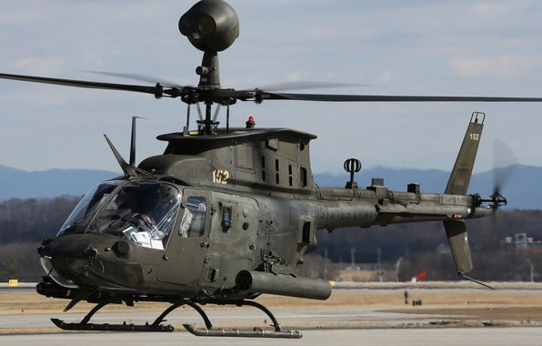 Picture helicopter, American, multipurpose, Bell, easy, OH-58, Kiowa