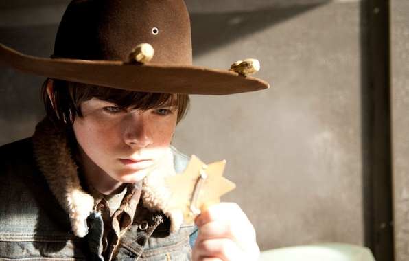 Picture background, hat, zombies, zombie, the series, icon, actor, serial, The Walking Dead, Carl Grimes, The …