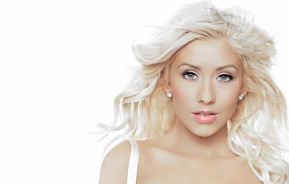Picture actress, blonde, singer, Christina Aguilera