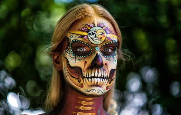 Day Of The Dead Face Painting Pictures