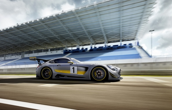 Picture photo, Mercedes-Benz, Tuning, Car, AMG, GT3, Side, 2015, Silver