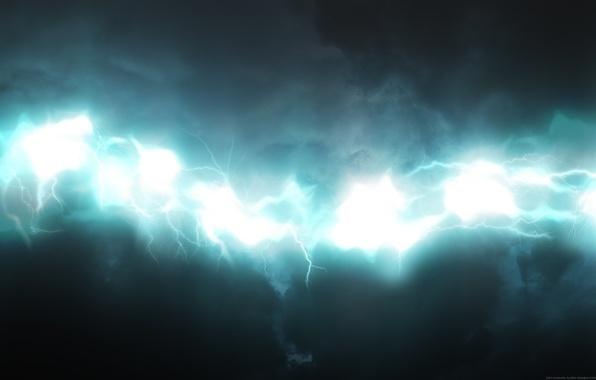 Picture white, blue, zipper, glow