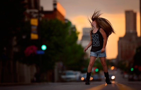 Picture freedom, street, hair, girl, fashion, child photography, Free as a bird, photography and style