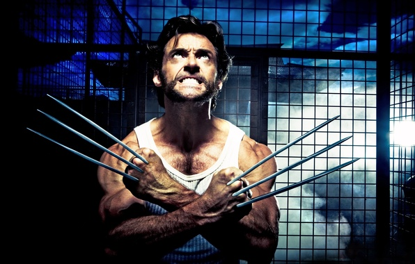 Picture blade, hero, actor, claws, male, knives, Hugh Jackman, hugh jackman, wolverine, mutant, tip, Wolverine, x-man