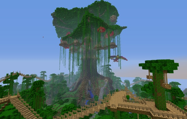 Wallpaper Forest The Sky Bridge House Tree Jungle
