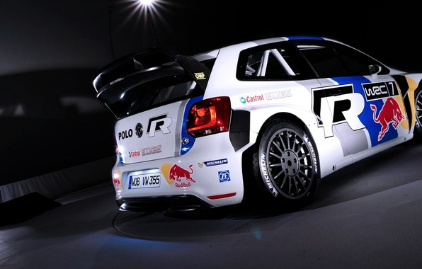 Picture Auto, White, Sport, Volkswagen, Machine, Red Bull, WRC, Rally, The room, Polo