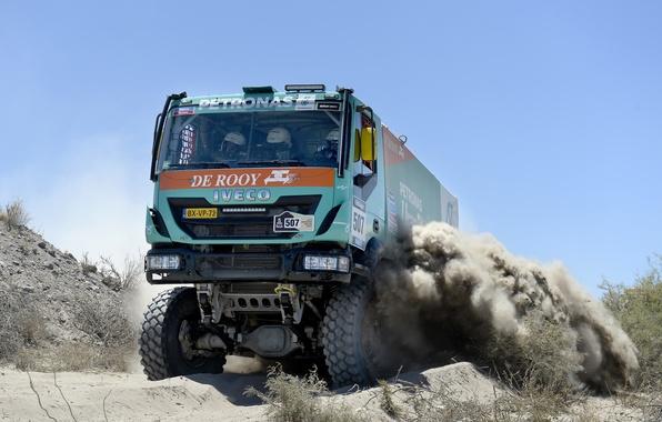 Picture Sport, Machine, Truck, Rally, Dakar, Dakar, The front, 2014, Iveco