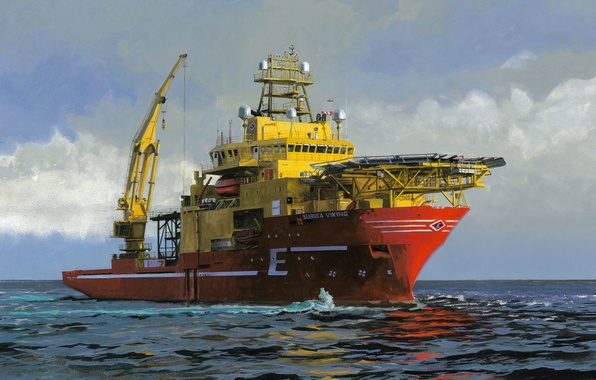 Picture sea, the sky, Norway, Subsea Viking, Supply vessel
