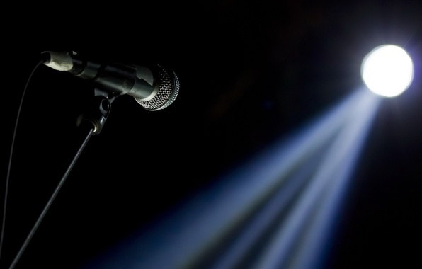 Picture light, music, microphone