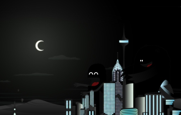 Picture night, the city, Monsters