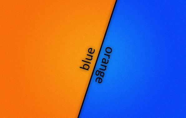 Picture orange, blue, background, blue, orange