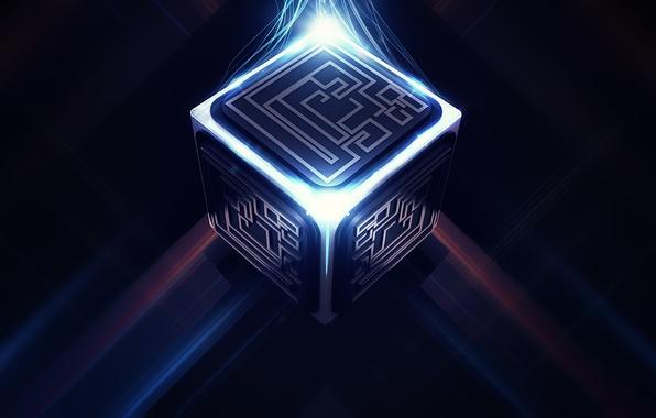 Picture maze, cube, digital art, links