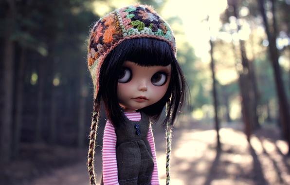 Picture eyes, street, hat, hair, doll, bangs