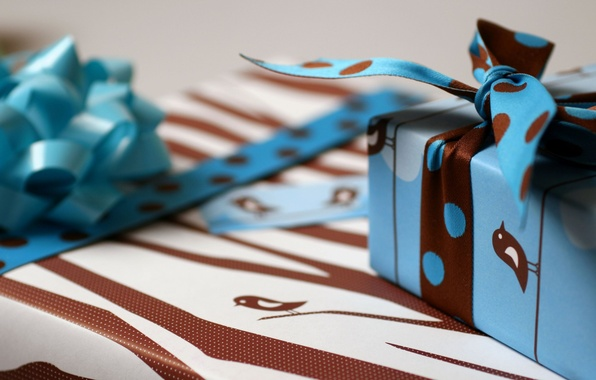 Picture holiday, ribbons, box, flight, packaging, holiday Wallpaper