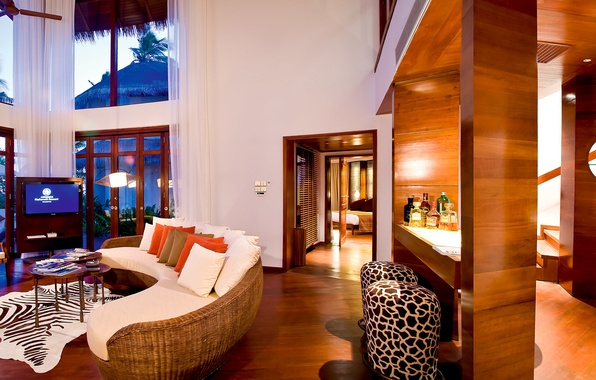 Picture design, style, interior, the hotel, Bungalow, living space
