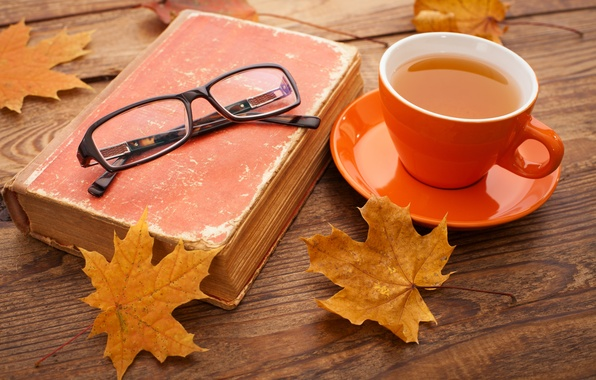 Picture autumn, Cup, maple, autumn, leaves, cup, tea, fall, autumn leaves, maple