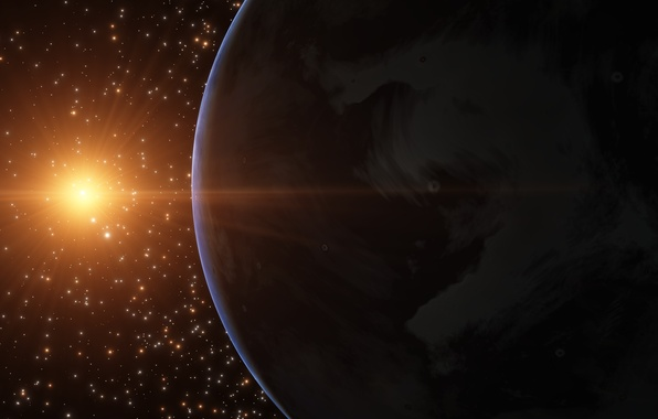 Picture space, stars, surface, light, planet