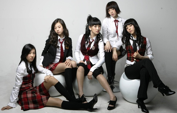 Picture Music, Asian, Girls, Beauty, Kpop, School, Wonder Girls, Uniform, Korean
