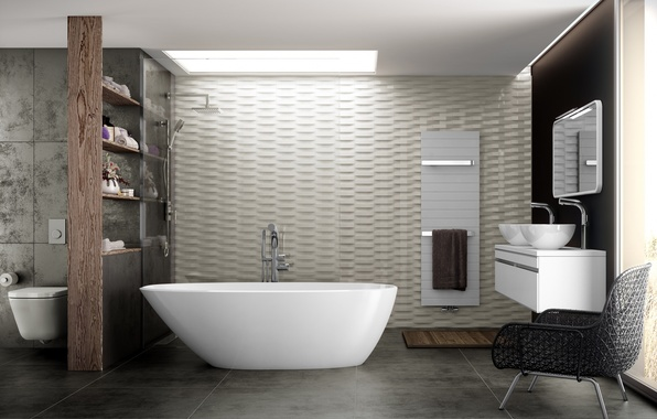 Picture design, interior, chair, bath, the project, modern, bathroom
