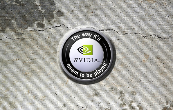 Picture texture, logo, nvidia, logo, the way its meant to be played