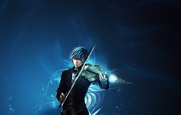 Picture music, violin, anime, guy, musician