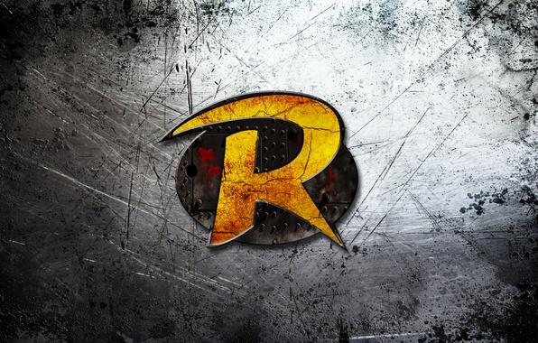 Picture metal, logo, Golden