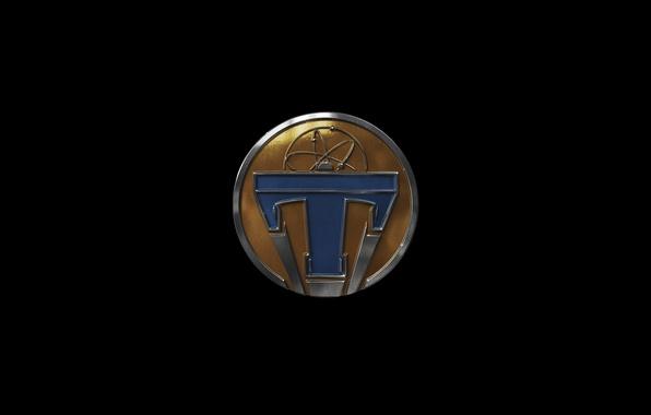 Picture fiction, the film, logo, emblem, black background, Tomorrowland, Future earth
