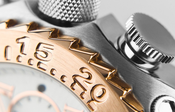 Picture numbers, Watch, polished metal