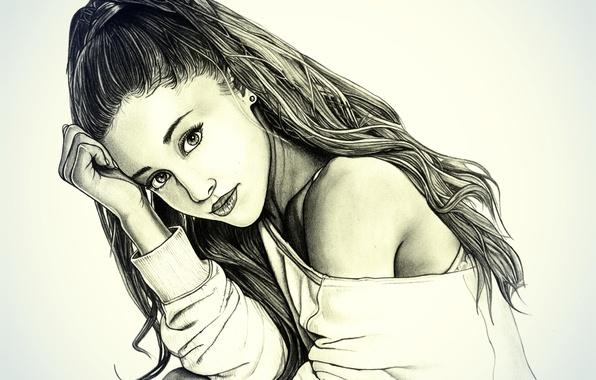 Picture figure, portrait, pencil, Ariana Grande