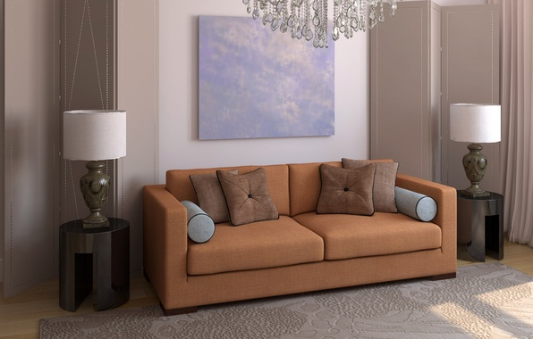 Picture design, comfort, style, lamp, room, sofa, interior, pillow, space, apartment, brown