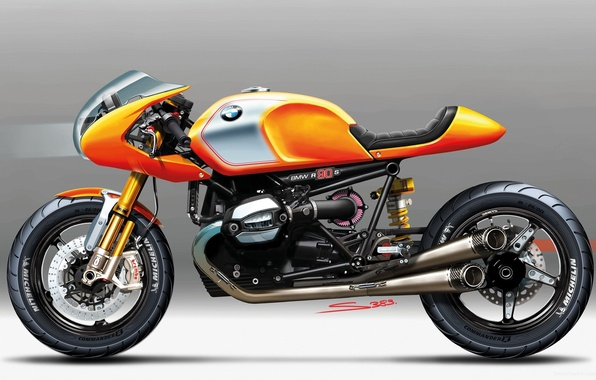 Picture BMW, Bike, 2013, CONCEPT, NINETY