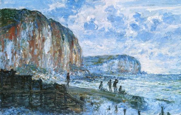 Picture people, picture, pierce, seascape, Claude Monet, The Cliff Le Petit Dahl