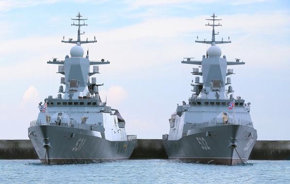 Picture pier, Navy, Russia, corvettes