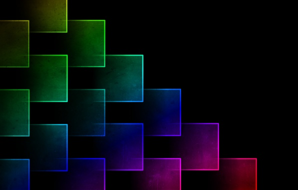 Picture color, abstraction, background, rainbow, cube, cube, brightness, cubes, Ghimpu, gimp