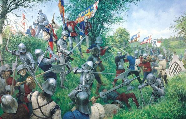 Picture time, roses, war, art, artist, battle, the battle, painting, between, troops, Battle of Tewkesbury, York., …