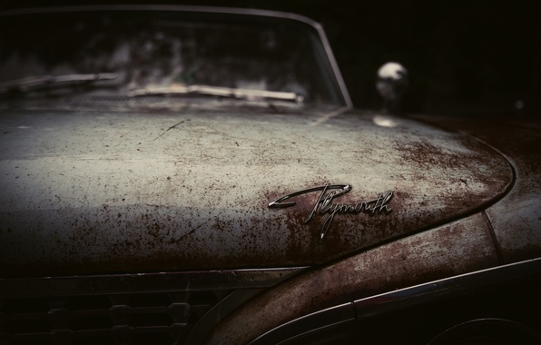 Picture car, auto, rusty, old, body, retro, old, Plymonth