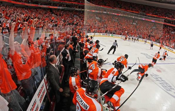 Photo Wallpaper Philadelphia Flyers The NHL Orange Crush Hockey
