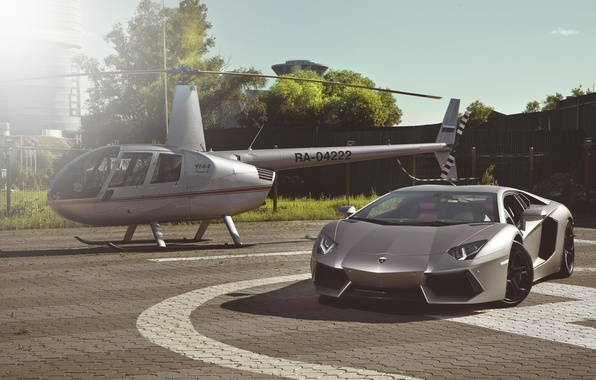 Picture Lamborghini, Supercar, Helicopter, LP700-4, Aventador