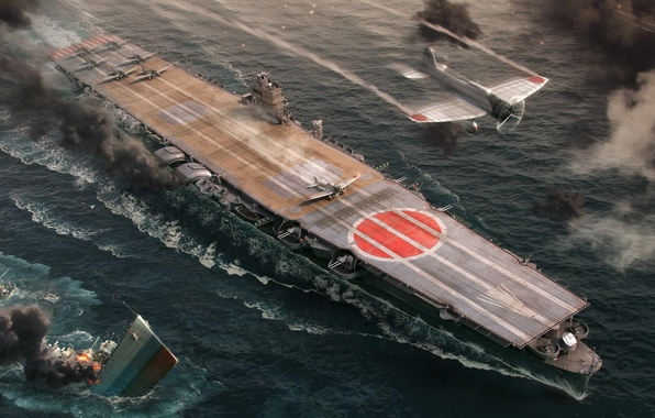 Picture The carrier, Wargaming Net, WoWS, World of Warships, The World Of Ships, IJF Hiryu, Hiru
