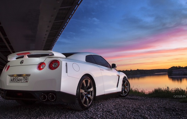 Picture machine, sunset, Nissan, photographer, GTR, Nissan, auto, photography, photographer, Alex Bazilev, Alexander Bazylev, Alexander Bazilev