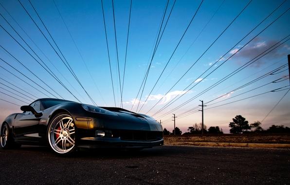 Picture the sky, corvette, chevrolet