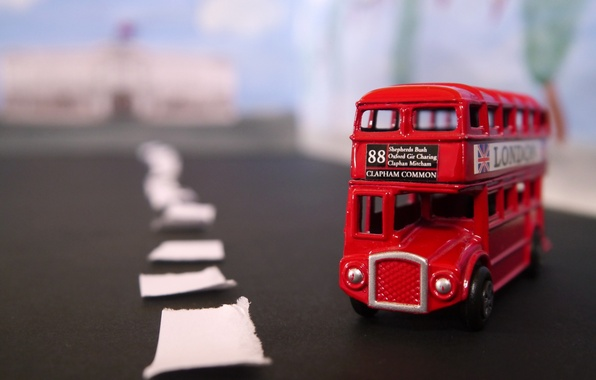 Picture road, macro, toy, bus
