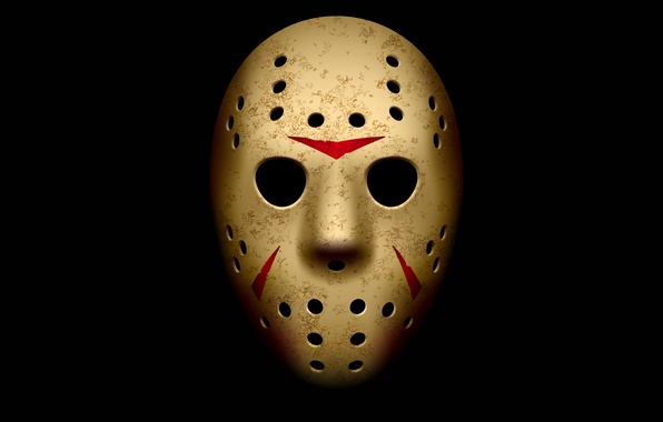 Photo Wallpaper Mask Friday The 13th Jason Voorhees Black Background