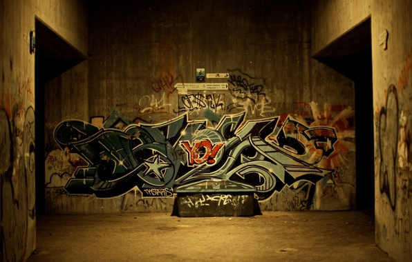 Picture city, the city, style, creative, wall, wall, figure, drawings, style, street, subway