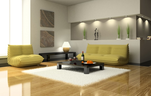 Picture sofa, interior, Design, chair, table, living room