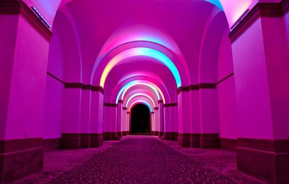 Picture light, paint, arch, arcade