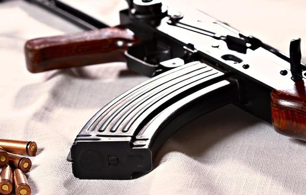 Picture weapons, machine, cartridges, Kalashnikov