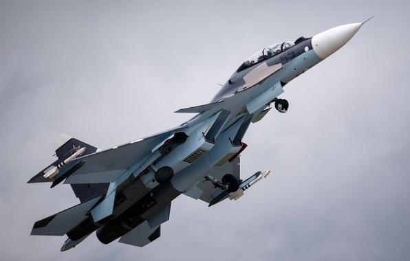 Picture the plane, fighter, base, in the air, BBC, destruction, OKB, Russian, multipurpose, Dry, Su-27, Su-30, …